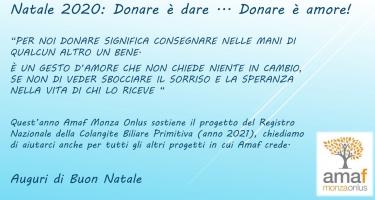 Natale 2020: Donare è dare... Donare è amore!
